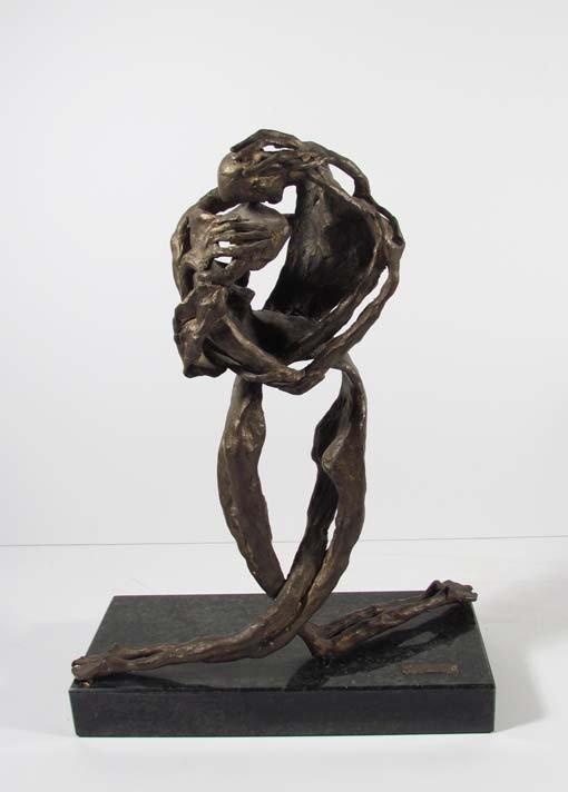 """EMANUELE SCARNICCI cast bronze """"Entwined Couple"""