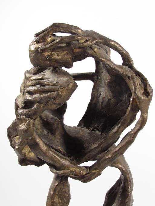 """EMANUELE SCARNICCI cast bronze """"Entwined Couple - 2"""