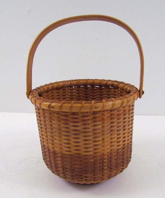 Nantucket lightship woven basket (1988)