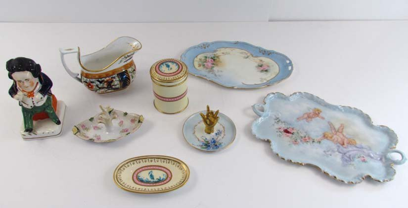 collection of ceramics both English and continental