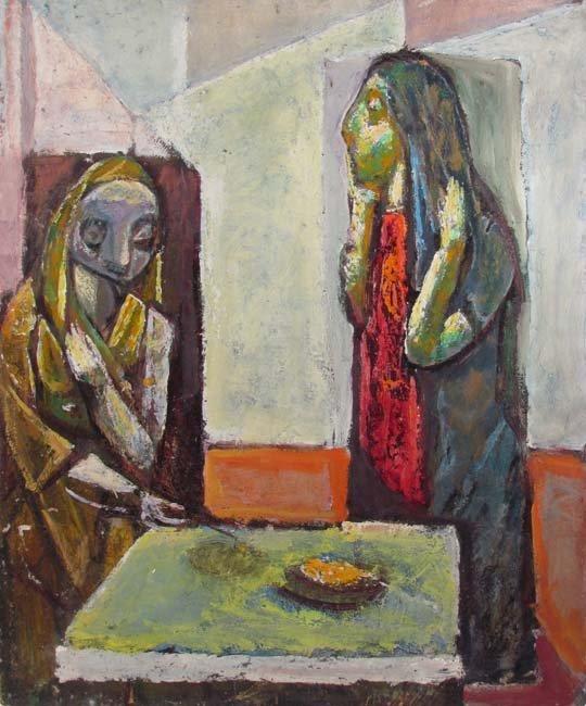 Samuel Rosenberg Two Women with Table, c. 1940