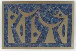 Sigfrido Pineda Sigi Steel wall plaque w inlaid blue