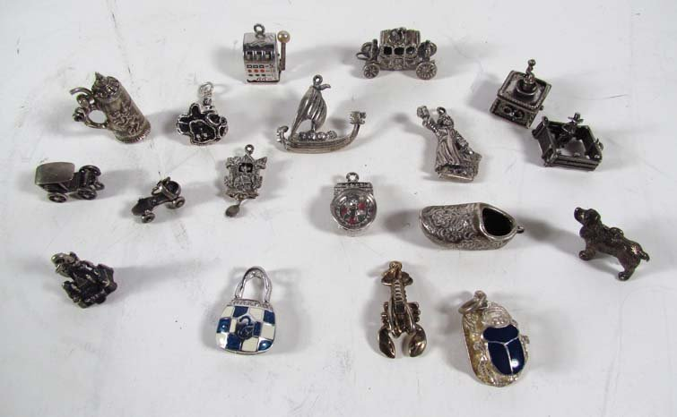 Sterling Silver and .800 Jewelry Charms