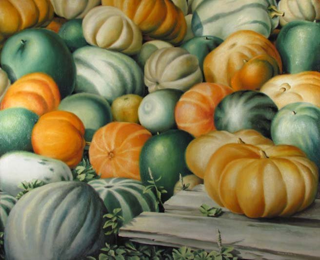 """Clarence Carter 1934 painting """"Harvest"""""""