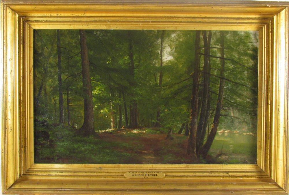 George Hetzel Bank of Slippery Rock Creek 1896