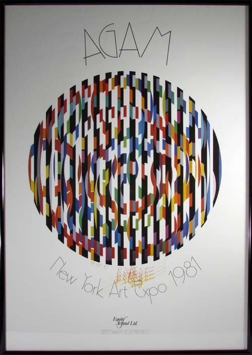 signed Yaacov Agam Poster 1987