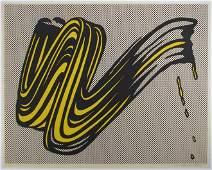 """Roy Lichtenstein orig serigraph """"Brushstroke"""" 1965"""