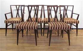 Tommi Parzinger for Charak 6 Mahogany Dining Chairs