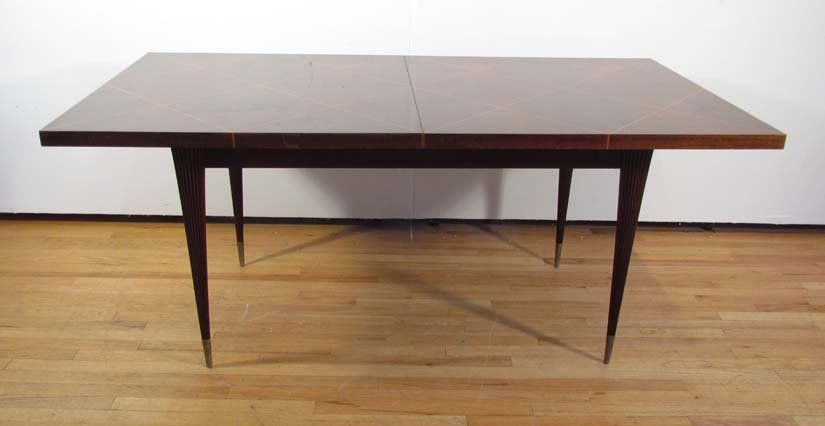 Tommi Parzinger for Charak Mahogany dining table