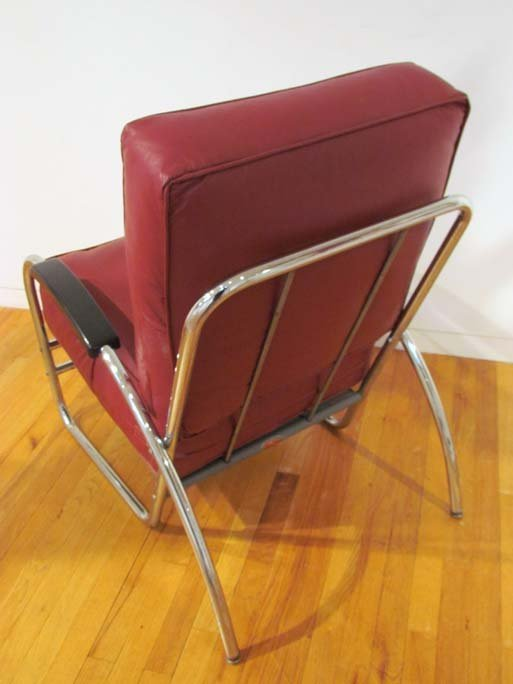 after Kem Weber Deco Chrome Lounge Chair by Royal Metal - 5