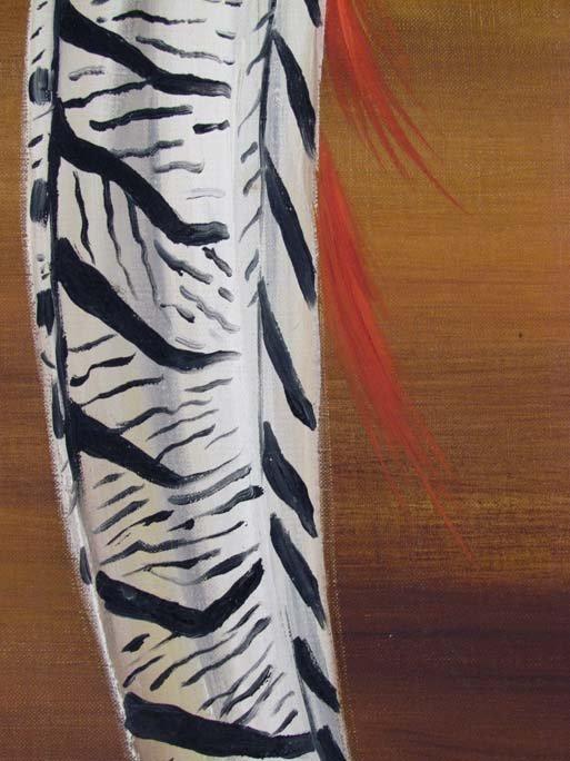 Maine Artist Dahlov Ipcar painting Pheasants - 5