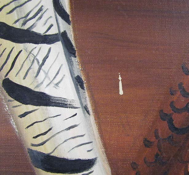 Maine Artist Dahlov Ipcar painting Pheasants - 6