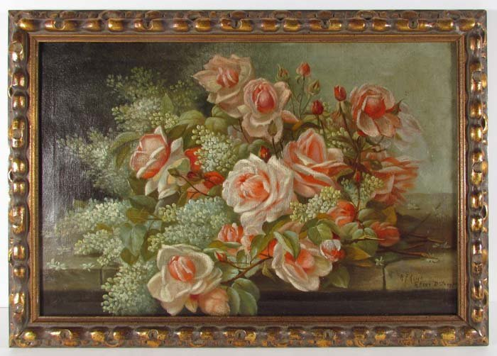 "A. F. King ""Still Life of Roses after Raoul D'Longpre"""
