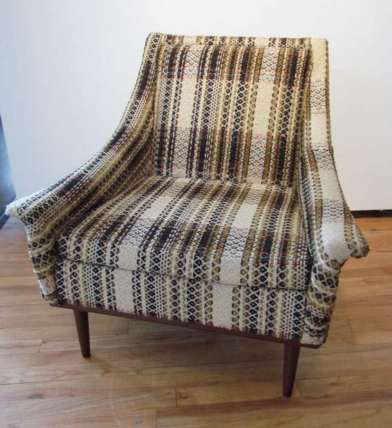 of Monroe Plaid Upholstered Modern Chair