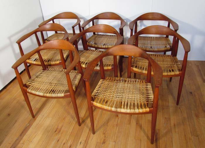"Set of 8 Hans Wegner Johannes Hansen model 501 ""The"
