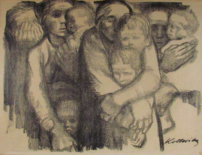"Kathe Kollwitz lithograph ""The Mothers"""