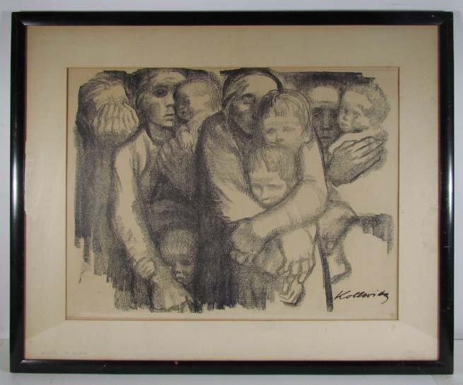 "Kathe Kollwitz lithograph ""The Mothers"" - 2"