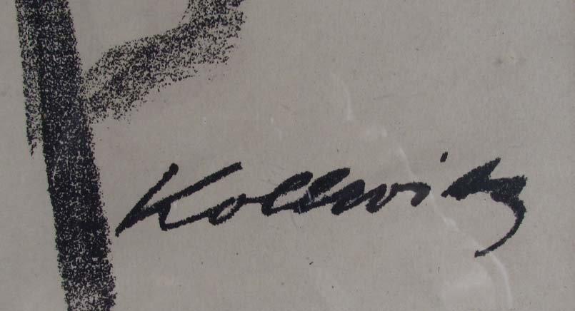 "Kathe Kollwitz lithograph ""The Mothers"" - 3"
