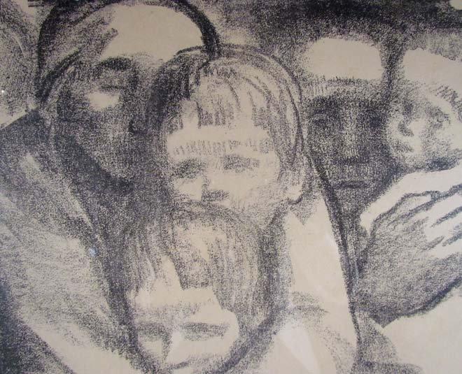 "Kathe Kollwitz lithograph ""The Mothers"" - 4"