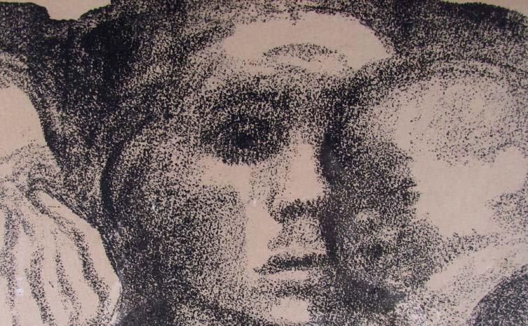 "Kathe Kollwitz lithograph ""The Mothers"" - 5"