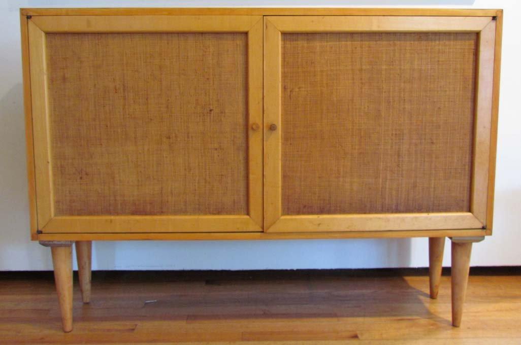 2 door modernist cabinet, possibly Milo Baughman for