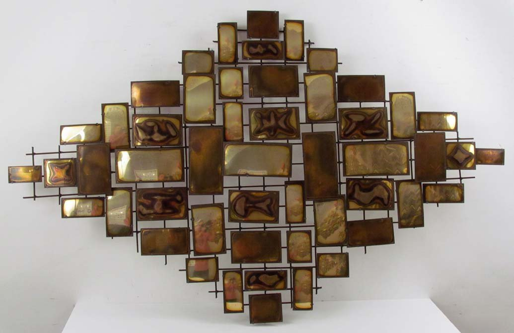 C. Jere style Metal Wall Sculpture