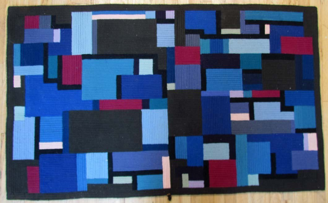 Louis M. Guidetti Modern Hooked Rug after Glarner