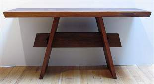 Wood Side Table in the style of Nakashima