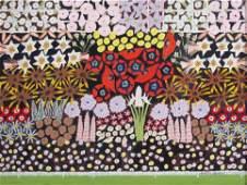 Gideon Cohen painting Floral Symphony