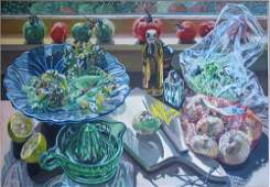 Janet Fish Salad Fixings Contemporary Realist ptg