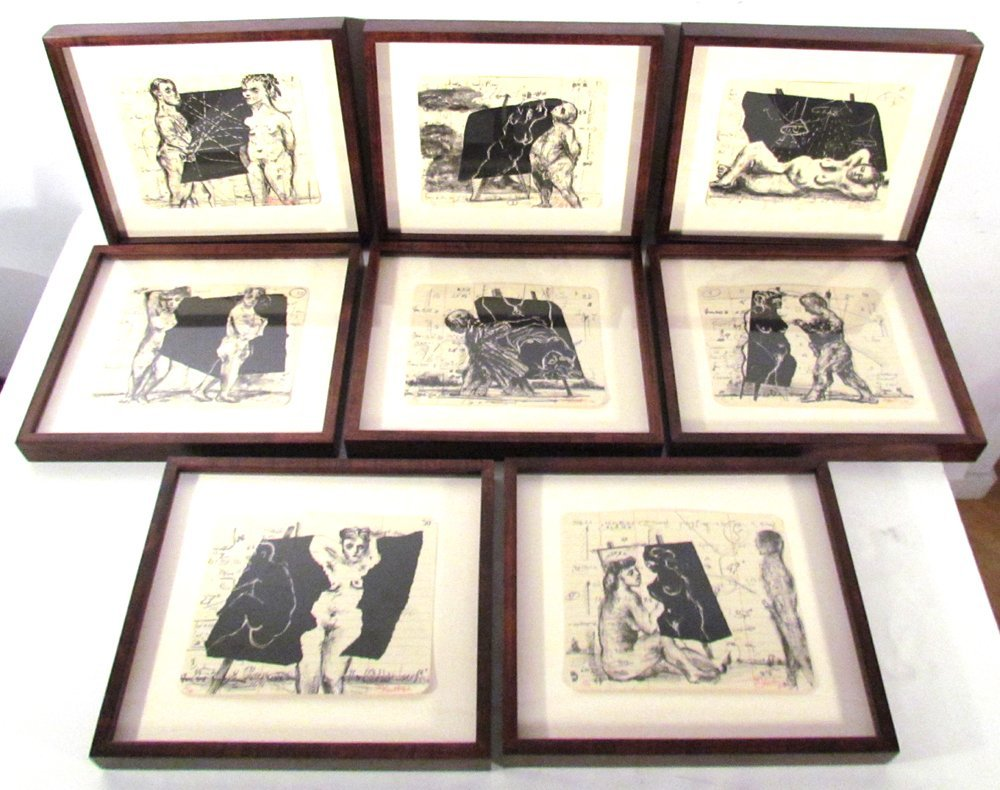 William Kentridge Summer Graffiti Series (8 works)