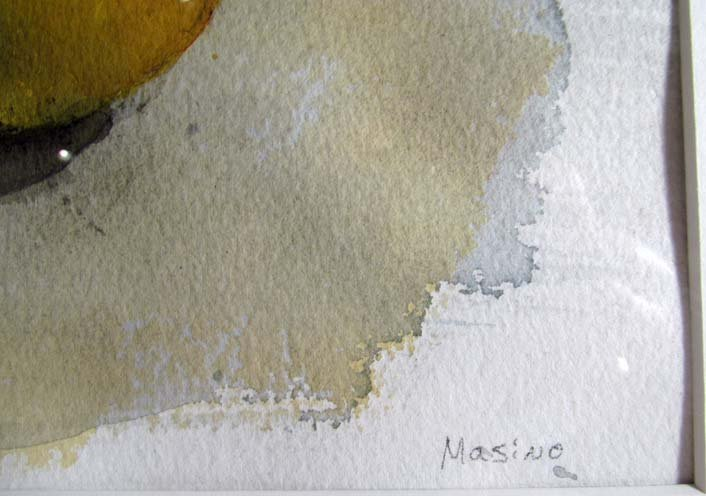 "Alexandre Masino watercolor ""Two Apples"" - 4"