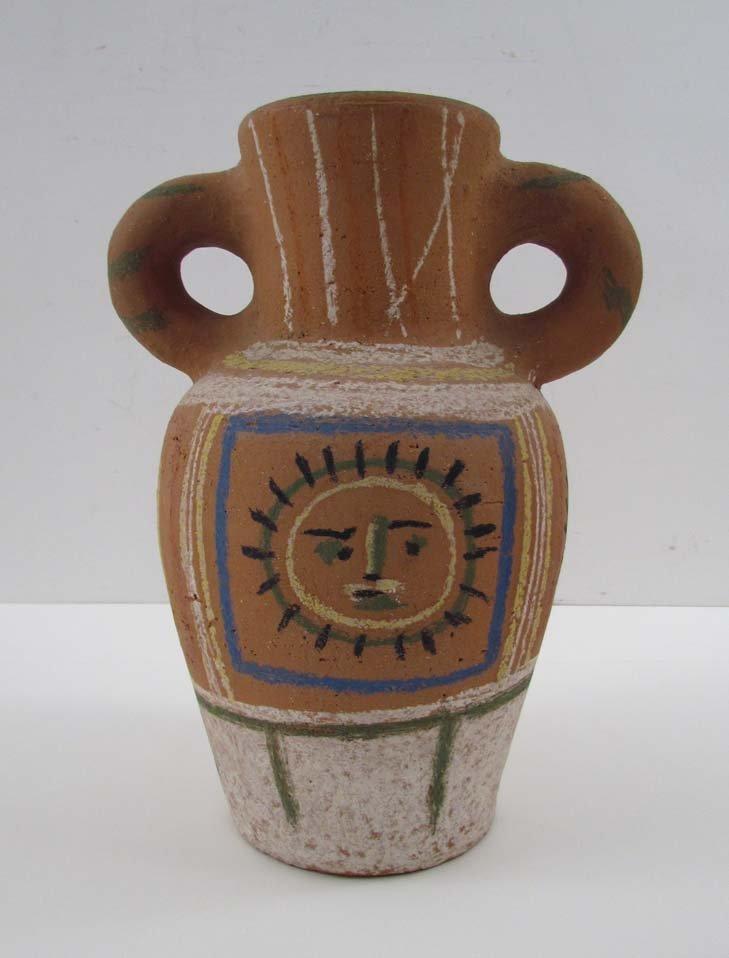 """Picasso 1953 Madoura """"Vase Au Decor Pastel"""""""