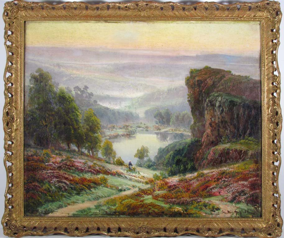Gaston Anglade Extensive Romantic Landscape with