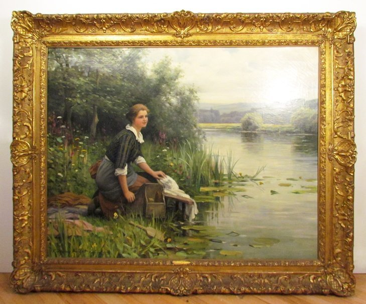 "Daniel Ridgway Knight ptg. ""The Washerwoman"""