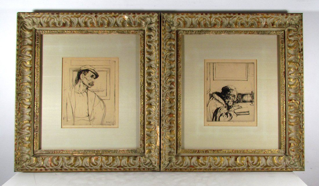 2 William Auerbach-Levy etchings;  Mordecai &  Cape Cod