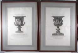 2 Piranesi Vase engravings