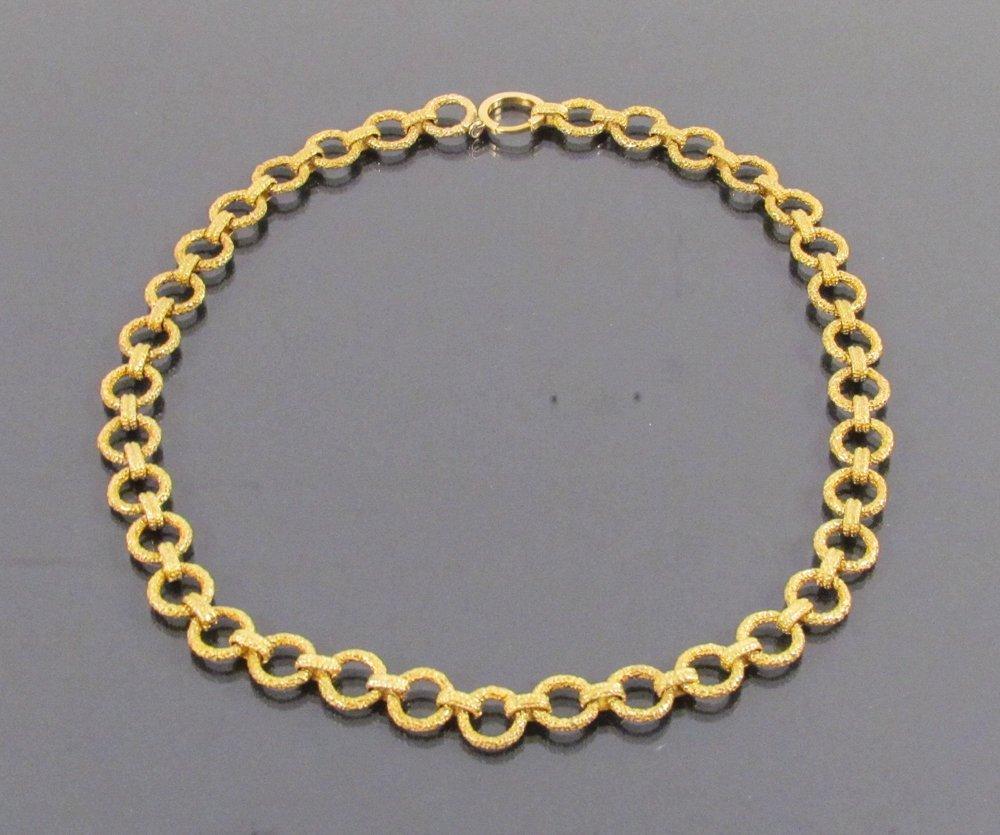 14k Gold Heavy Links Necklace