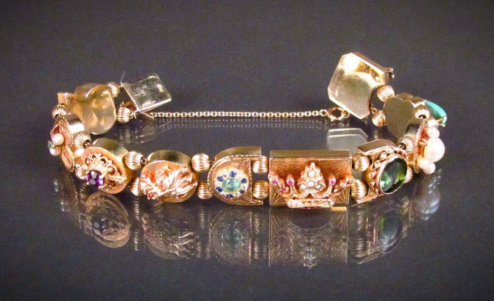 14k Gold Slide Bracelet