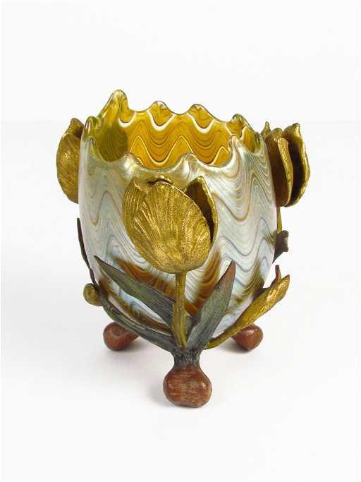 Loetz Glass Vase For E Bakalowits Shne C 1900