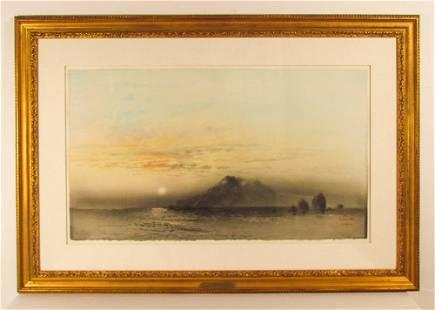 "Kaiko Moti 1978 aquatint ""Sunrise"""