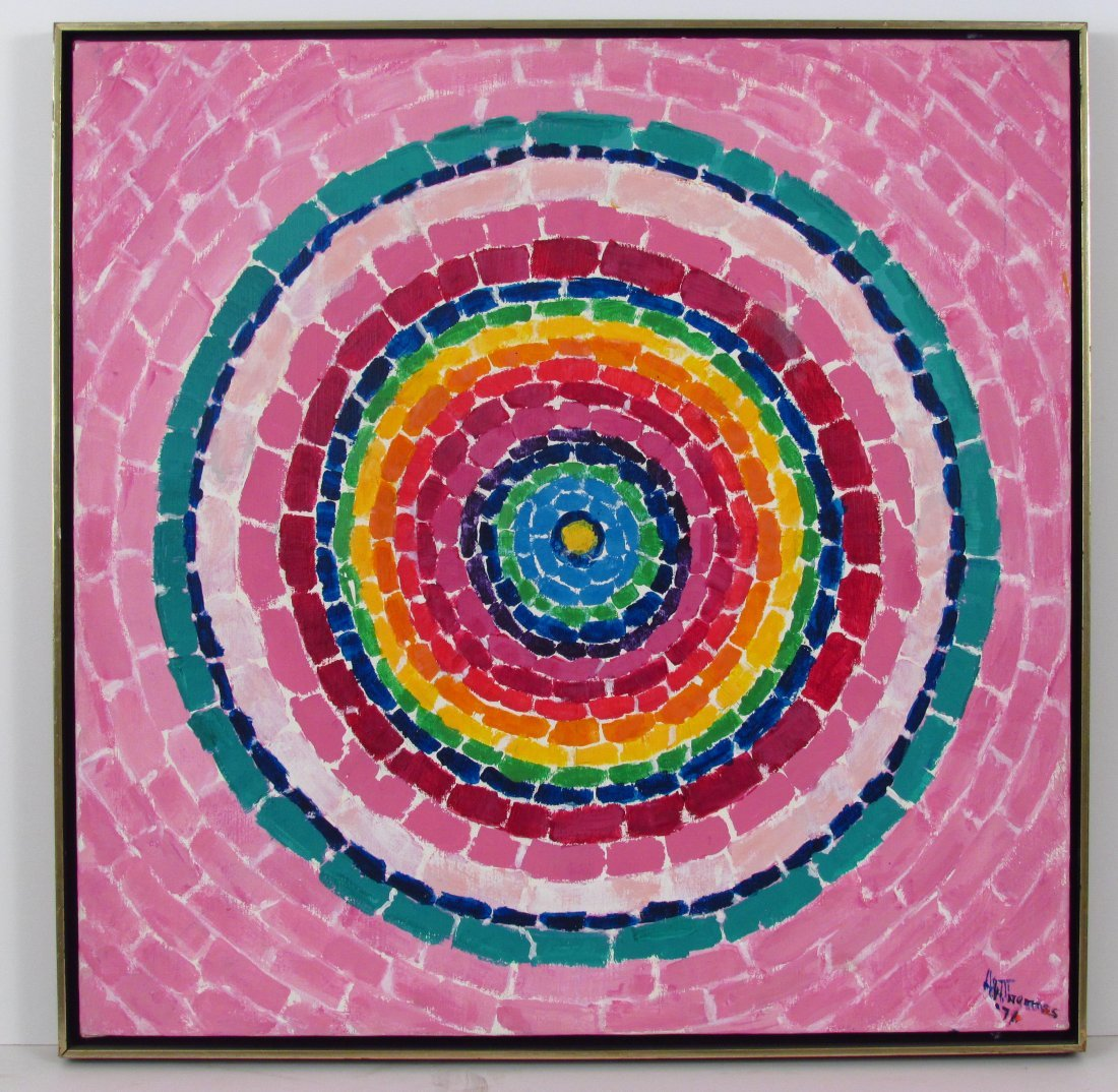 """Alma Thomas painting """"Pink Dogwoods and Azaleas"""""""