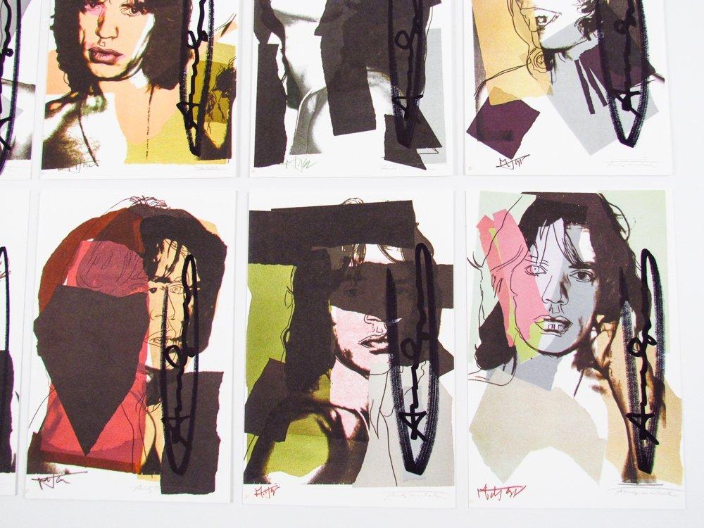 10 Warhol signed Mick Jagger Postcards - 2