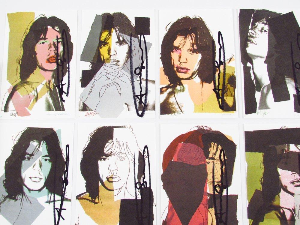 10 Warhol signed Mick Jagger Postcards - 3