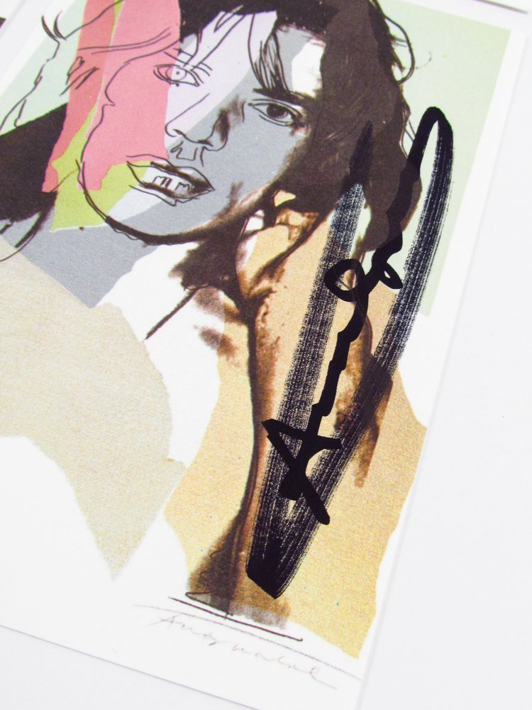 10 Warhol signed Mick Jagger Postcards - 4