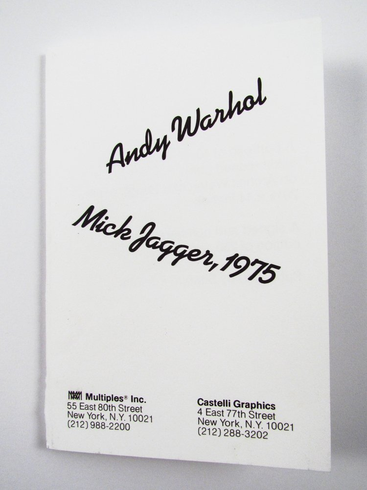 10 Warhol signed Mick Jagger Postcards - 6