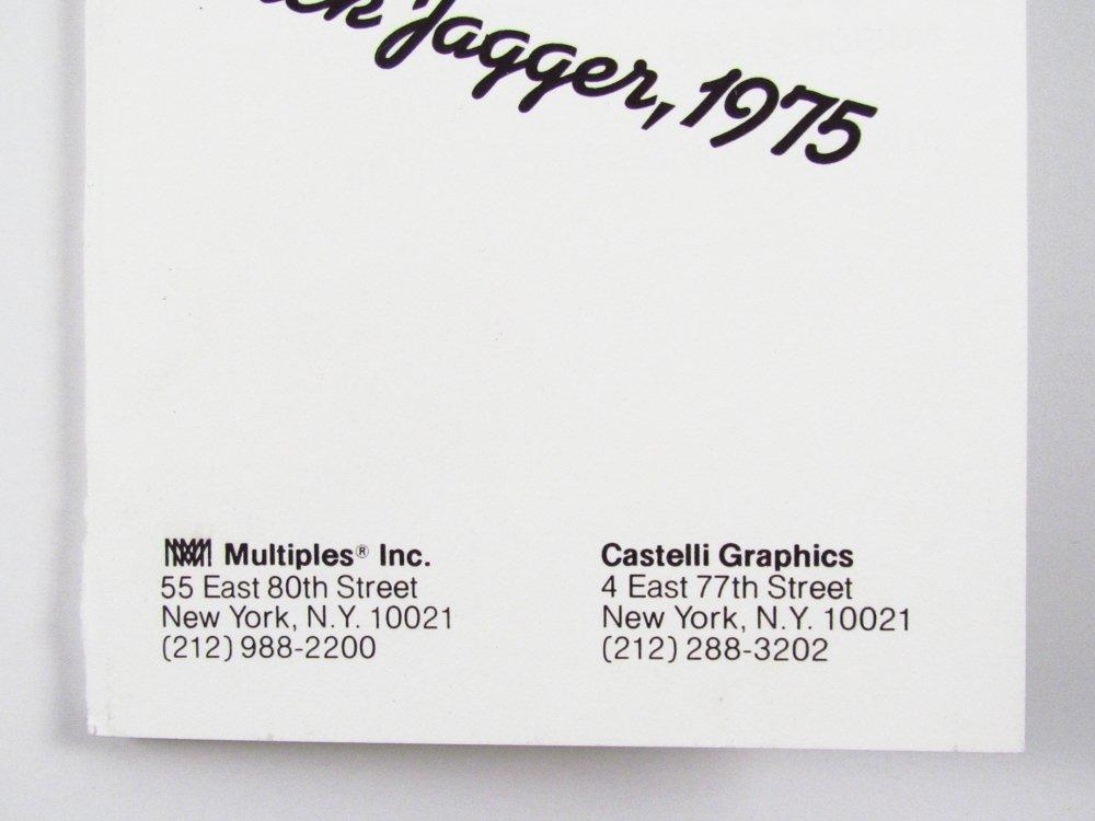 10 Warhol signed Mick Jagger Postcards - 7