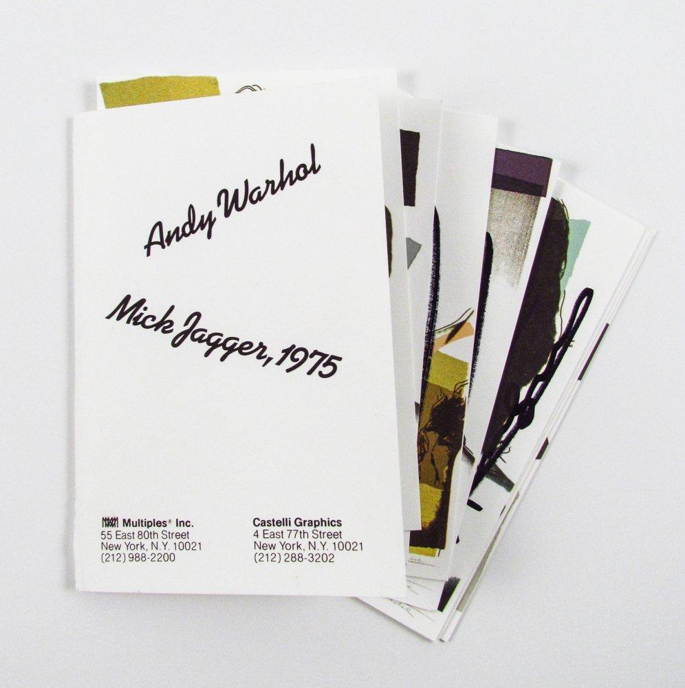 10 Warhol signed Mick Jagger Postcards - 9