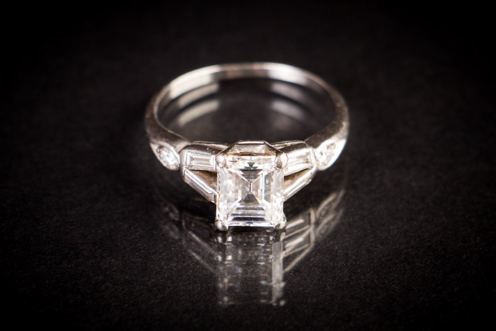 Emerald Cut 1.7 carat Diamond Lady's Ring