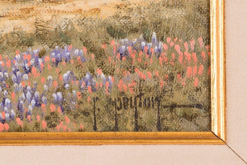 Randy Peyton painting Texas Landscape w Bluebonnets - 2